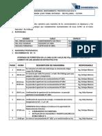 Plan de Maniobra de Linea 22.9 Kv Natividad - Rio Pallanga II Etapa