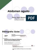 Abdomen Agudo - Percy Soto