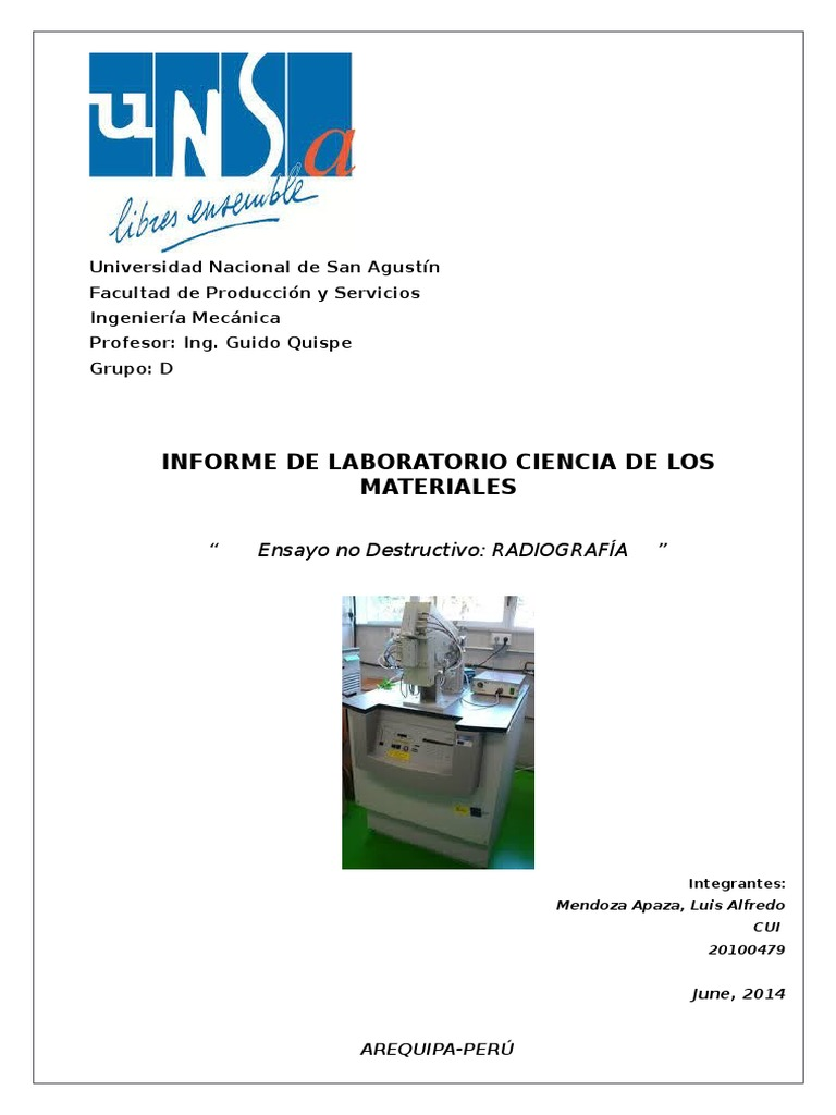 Informe Rayos x