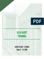 Kiln Audit Training Introduction
