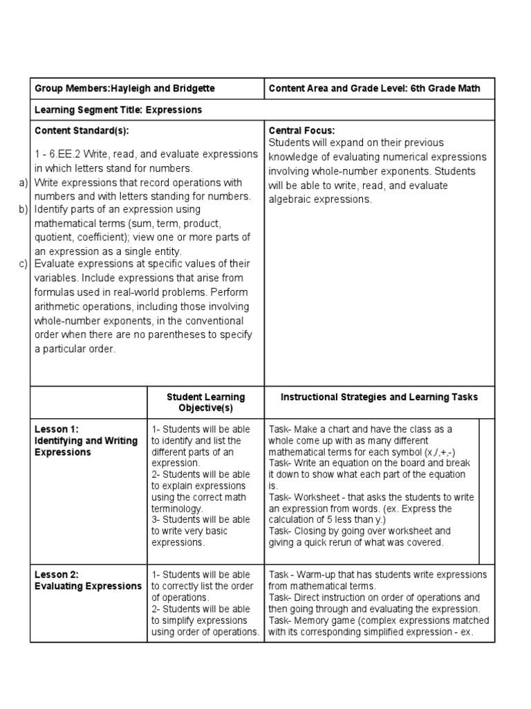learning segment outline 2 | Mathematics | Physics & Mathematics