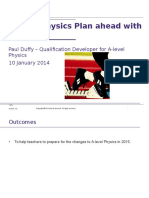 A Level Physics Plan Ahead With AQA