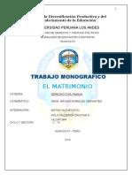 Monografia Sobre El Matrimonio