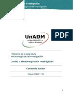 Unidad 1. Metodologia de La Investigacion_Contenido Nuclear