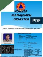 Konsep Manajemen Disaster