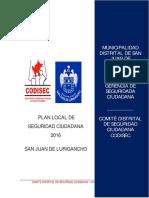Informe de Avance Plsc 2016 Final