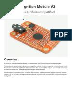 Voice recognition module vr3 Manual