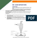Hydrocyclones Maintenance