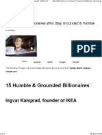 15 Super Rich Billionaires Who Stay Grounded & Humble _ Addicted 2 Success