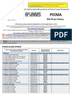 Canon Camera MIR Claim Form 10 14