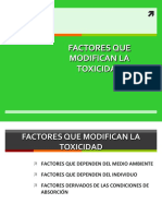 Factores Que Modifican La Toxicidad