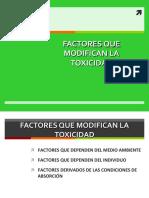 Factores Que Modifican La Toxicidad