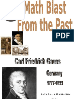 Carl Friedrich Gauss Blast From The Past.ppt