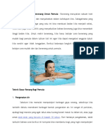 Cara Mudah Dan Tips Berenang Untuk Pemula