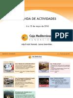 Agenda de Actividades Destacadas. Del 6 al 15 de mayo de 2015