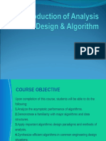 Introduction of Analysis Design & Algorithm