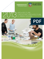 School of Architecture, Landscape Architecture & Urban Design Program Information Leaflet