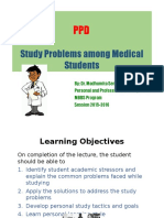 1. Study Problems of Medical Students