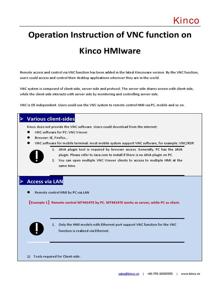 VNC Function Operation Instruction | Port (Computer