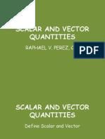Vectors and Scalars Quatities