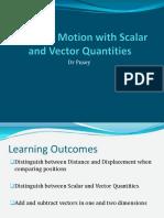 Vectors and Scalars