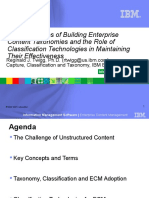 IBM - 2007 - The Challenges of Building Enterprise Content Taxonomies and the Role of Classification Technologies in Maintaining