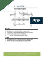 Marketing Crossword