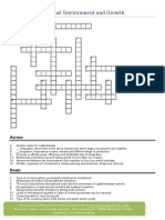 Crossword on business growth