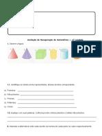 Avaliação de Recuperaçõ de Matematica 4º Ano 2016