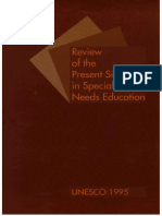 Review Present Situation in Special Needs Education UNESCO
