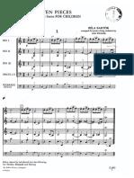 Ten Pieces From for Children-Bela Bartok