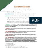 Discovery Checklist