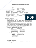 Format Pengkajian Asuhan Keperawatan Intranatal