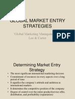 Global Market Entry Strategies and Internationalization Process