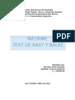 PROTOCOLO Y RESULTADOS SOBRE EL TEST DE BALKE Y RAST