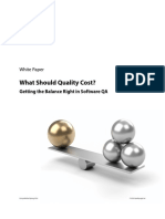What Should Quality Cost