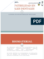 Biocompatibilidad en Materiales Dentales
