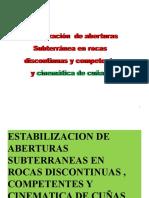 Capitulo 4 Estabilización de Rocas Competentes (Cuñas)