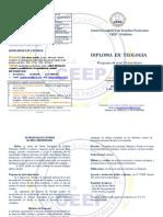 Diptico 2016 Ceep Valdivia Diplomado en Teología Oficial