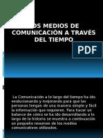 Los Medios de Comunicación a Través Del Tiempo