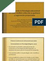 Re-prensando La Psioclogía Educacional en Chile