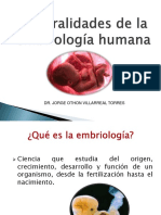 Generalidades de Embriologia