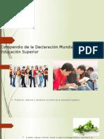 Compendio de La Declaración Mundial Sobre La Educación