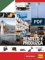 Catalogo Montacargas Carretillas Electricas Plataformas Elevadoras Personal Generadores Torres Iluminacion