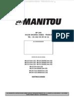 Manual Montacargas Msi20d 25d 30d 2e2 35 Turbo Mh20 25 Manitou Operacion Mantenimiento Seguridad