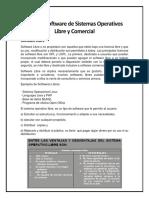 Análisis Software de Sistemas Operativos Libre y Comercial