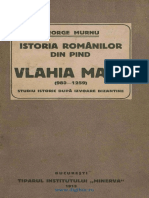 Istoria Romanilor Din Pind. Valahia Mare