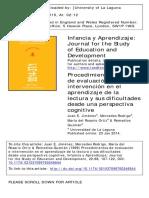 1999 Dossier Documental Sobre Procedimientos de Evaluación e Intervención en El Aprendizaje de La Lectura y Sus Dificultades Desde Una Perspectiva Cognitiva.