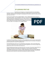 The Importance of Learning First Aid