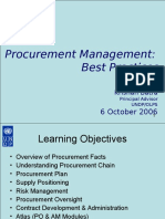 Procurement Management Best Practices